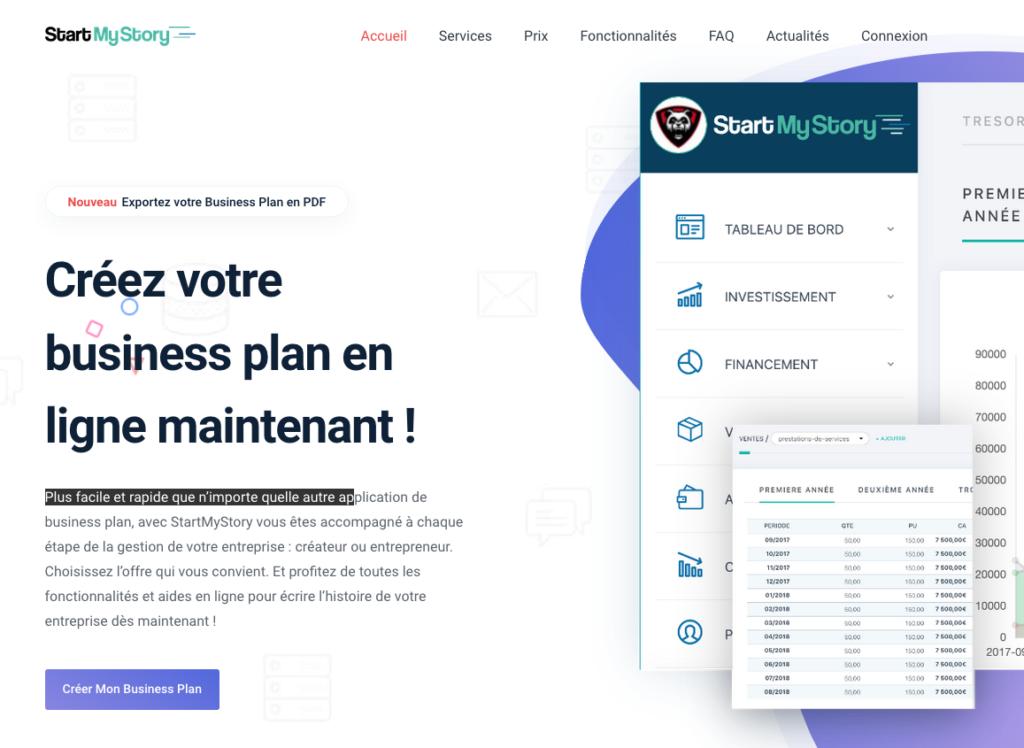 le logiciel de business plan en ligne