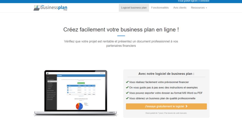 logiciel business plan